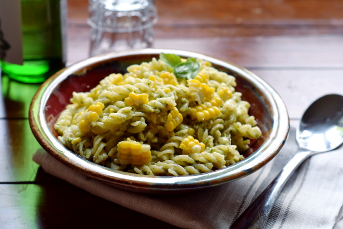 Healthy Broccoli Pesto Pasta #glutenfree #vegan #dairyfree