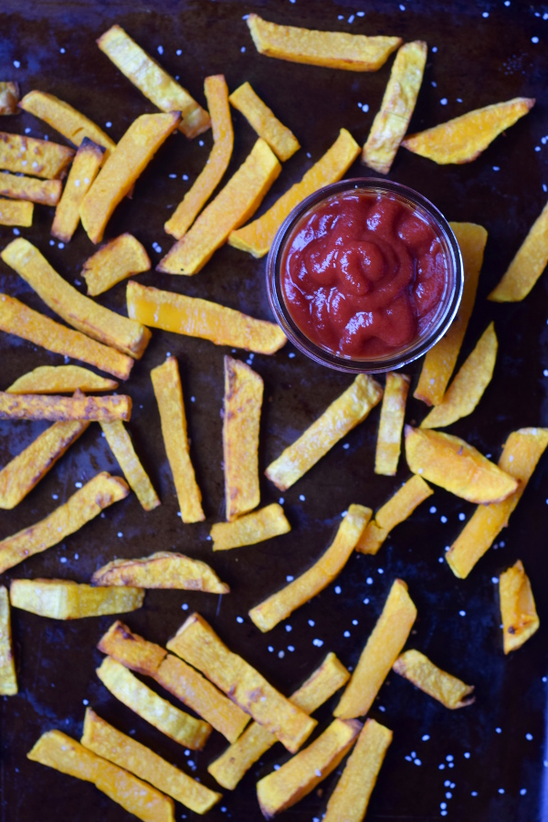 Maple butternut squash fries
