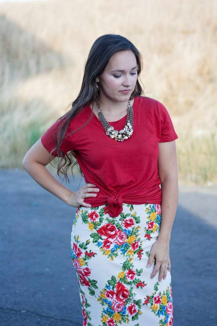 Free Pencil Skirt PDF Sewing Pattern Womens sizing