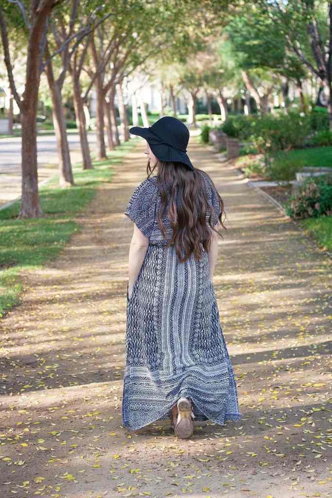 Designer Stitch Gypsy Dress back view