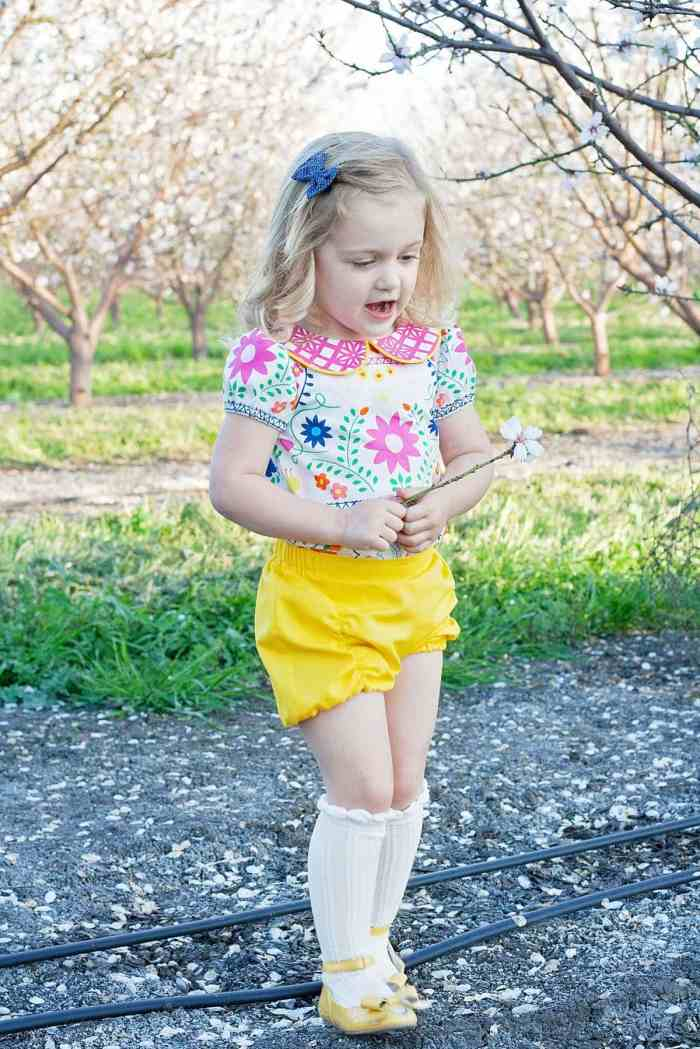 Pleatie Playsuit PDF Sewing Pattern Fiesta Fun Fabrics Art Gallery
