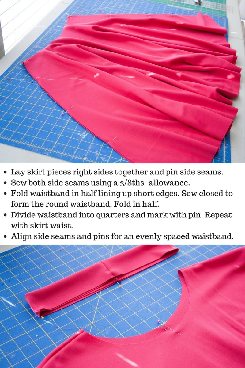 Knit fabric circle skirt tutorial sweet red poppy you can find the fabric i used here bankloansurffo Image collections