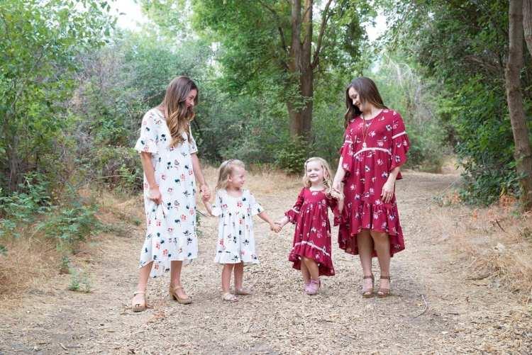 Patricia PDF Sewing Pattern Girls and Women's Dress Hi-lo Boho Stylish Fabric Floral Print Crepe