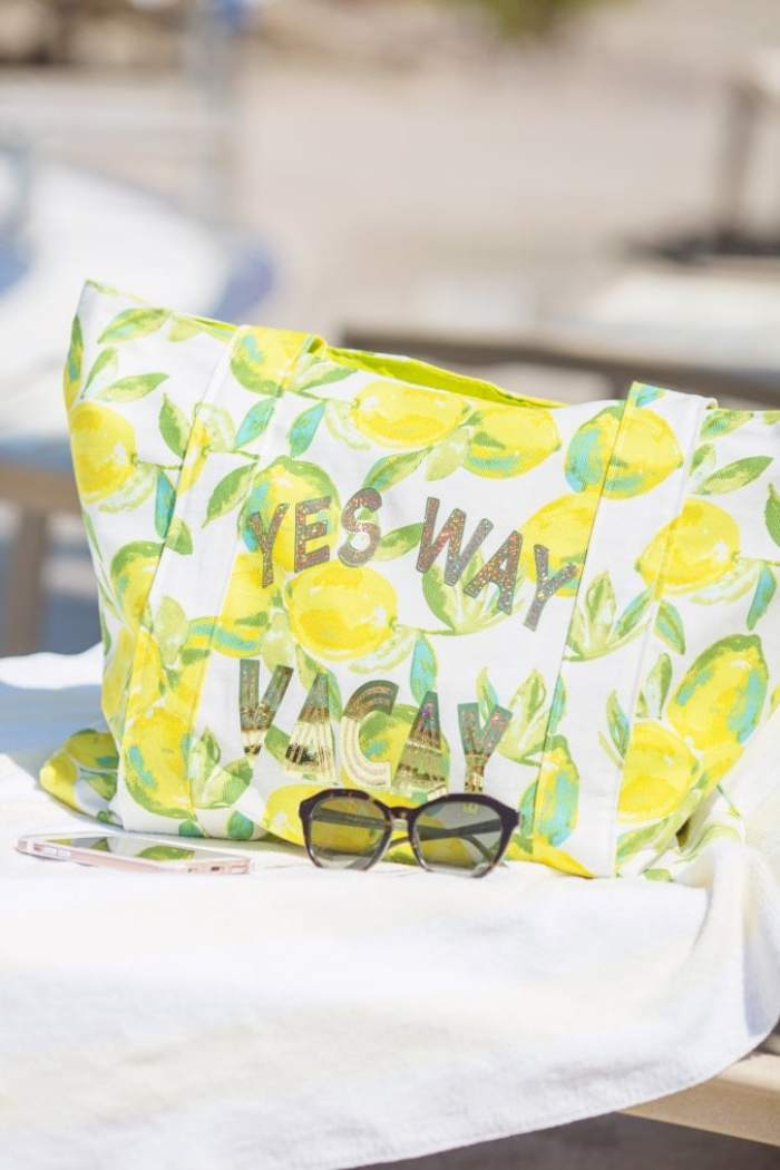 DIY HTV Iron-On Vacation Bag tutorial Lily Shine Creates
