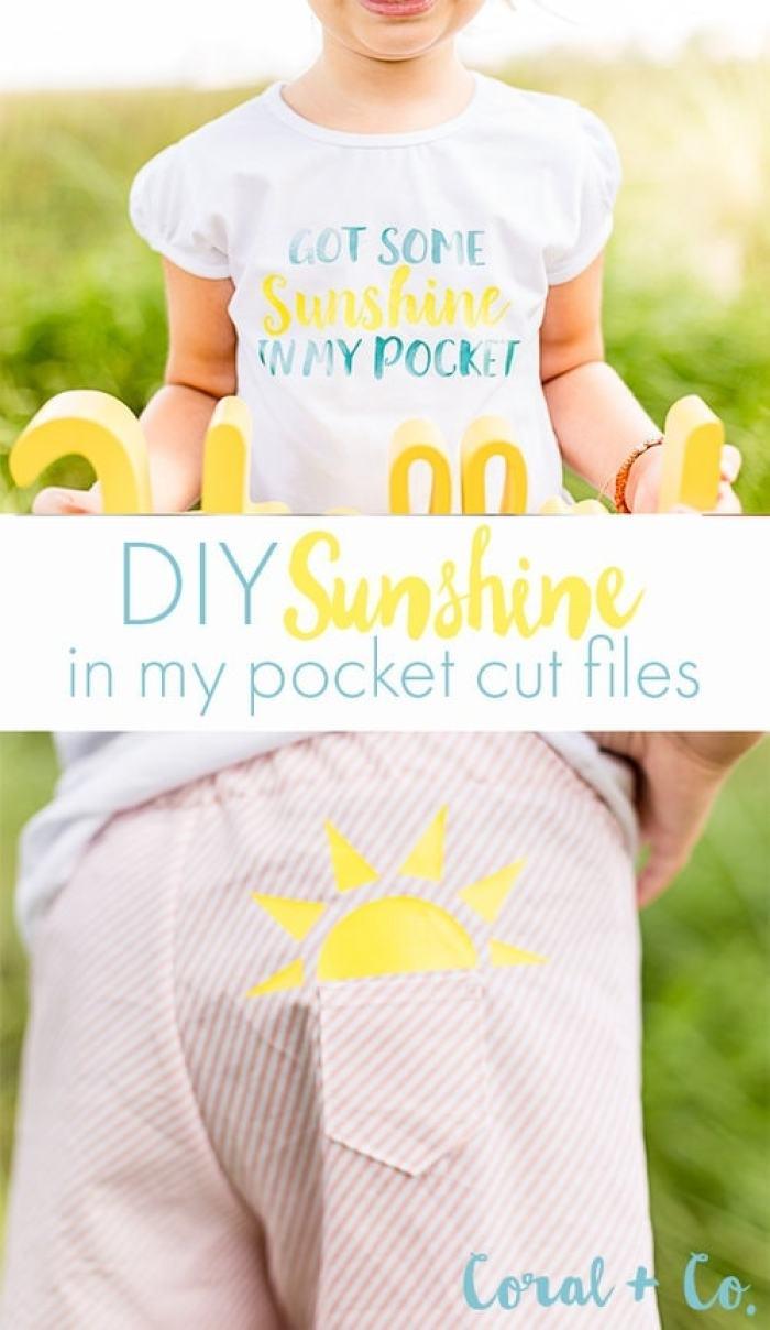 Sunshine in my Pocket Trolls DIY Cricut HTV