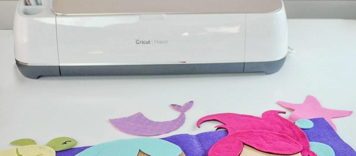 The New Cricut Maker Cutting Machine Felt Mermaid Quiet Busy Book SVG Free Tutorial