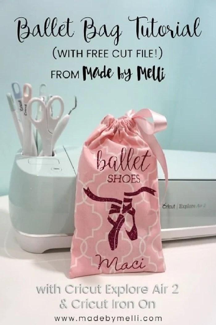 Made By Melli Cricut Ballet Shoes Bag