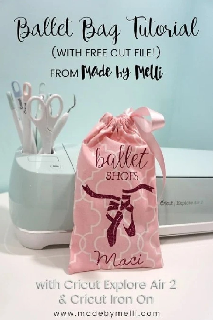 Made By Melli Cricut Ballet Shoes Bag