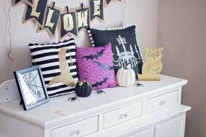 DIY Halloween Easy Pillows with Invisible Zipper Cricut Maker Tutorial Iron-On Easy Press