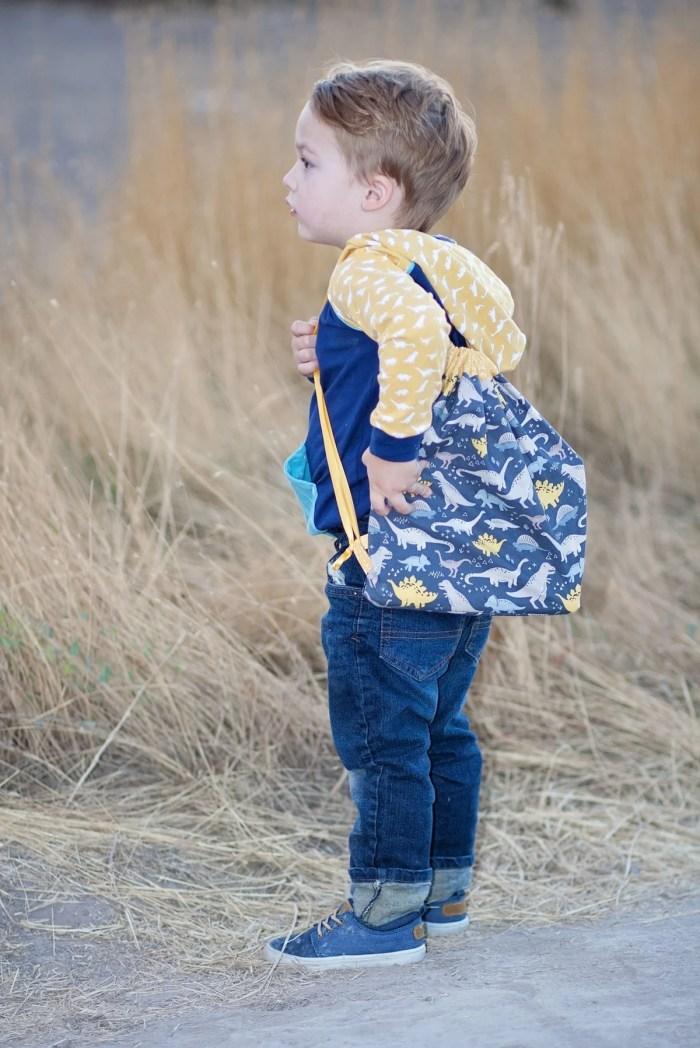 Free Hoodie Sewing Pattern and Drawstring Bag Tutorial