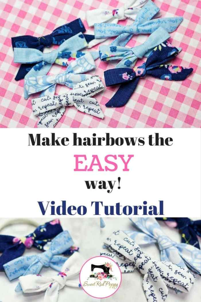 Easy DIY Girls Headband and Bow Sewing Tutorial