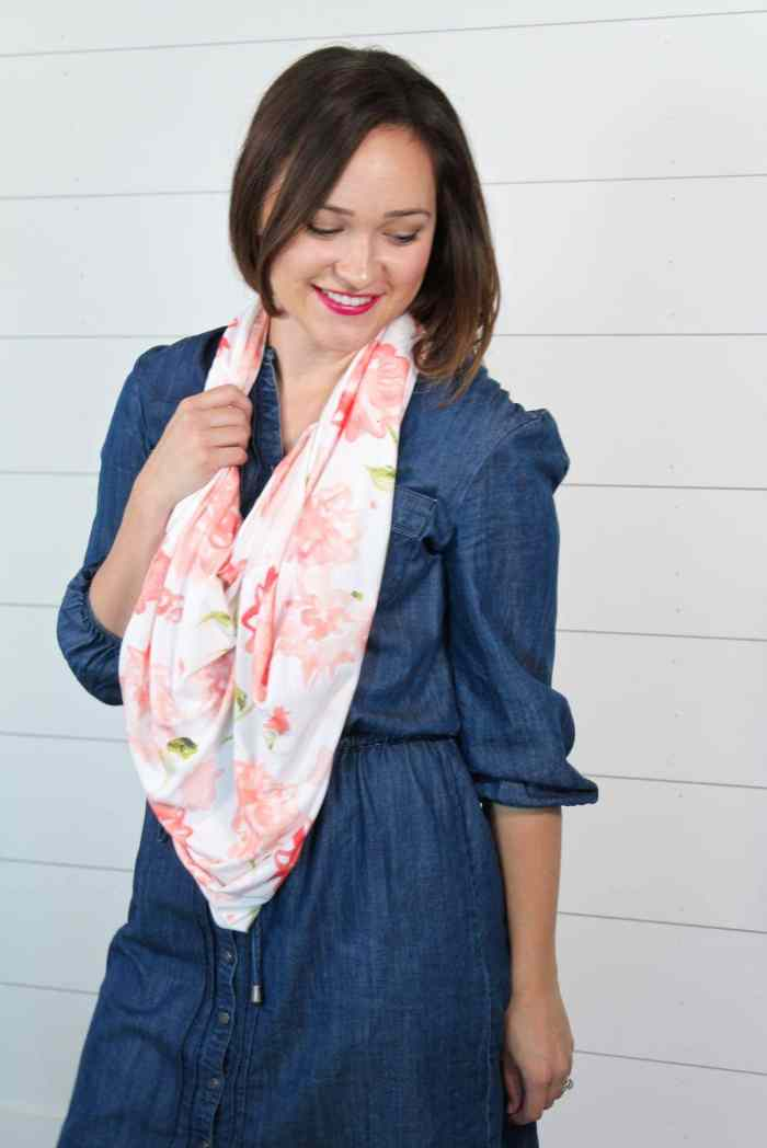 Free Sewing Pattern and Tutorial for an Infinity Scarf