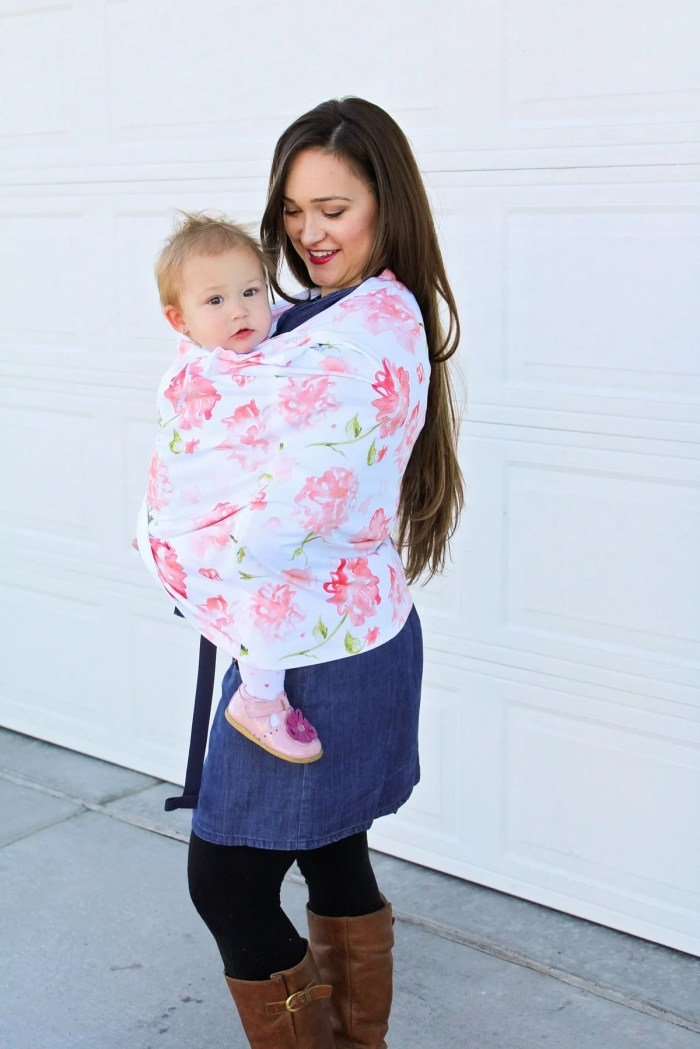 Baby wearing cover sewing tutorial