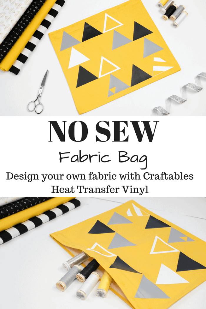 Learn how to make this easy no-sew pouch with Craftables Iron-on vinyl.