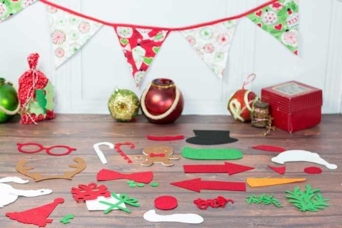 Christmas Photo Booth Props Cricut Maker Tutorial