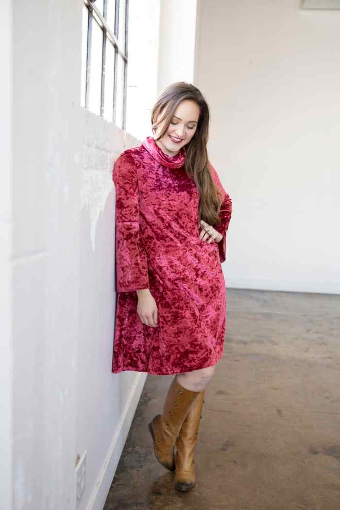 Swing Dress with Cowl Women's Sewing Pattern