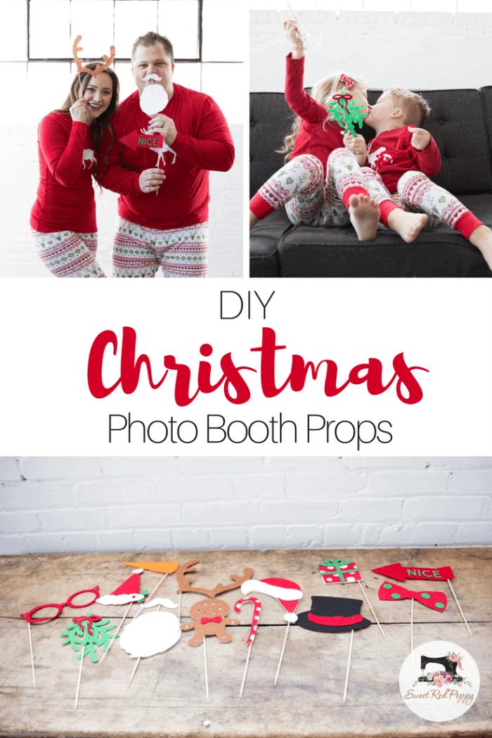 Christmas PJ DIY Tutorial Free PDF Sewing Pattern, Photo Booth Props & Cut File.
