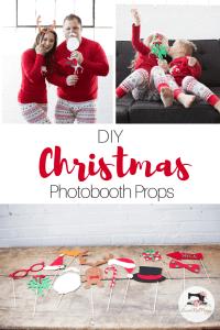 Christmas PJ DIY Tutorial Free PDF Sewing Pattern Photo Booth props & Cut File