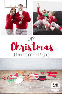 Christmas PJ DIY Tutorial Free PDF Sewing Pattern Photo Booth props & Cut File