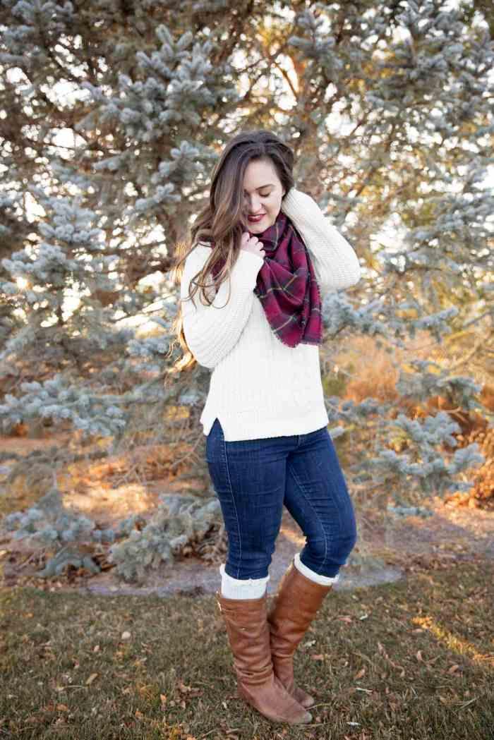 Flannel Fringe No-Sew Blanket Scarf