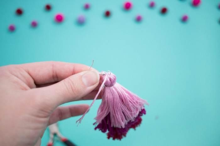 DIY Embroidery Thread Earrings
