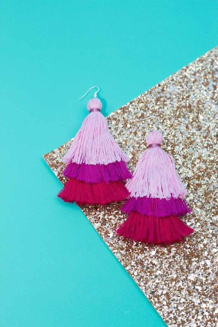 DIY Layered Tassel Earring Tutorial