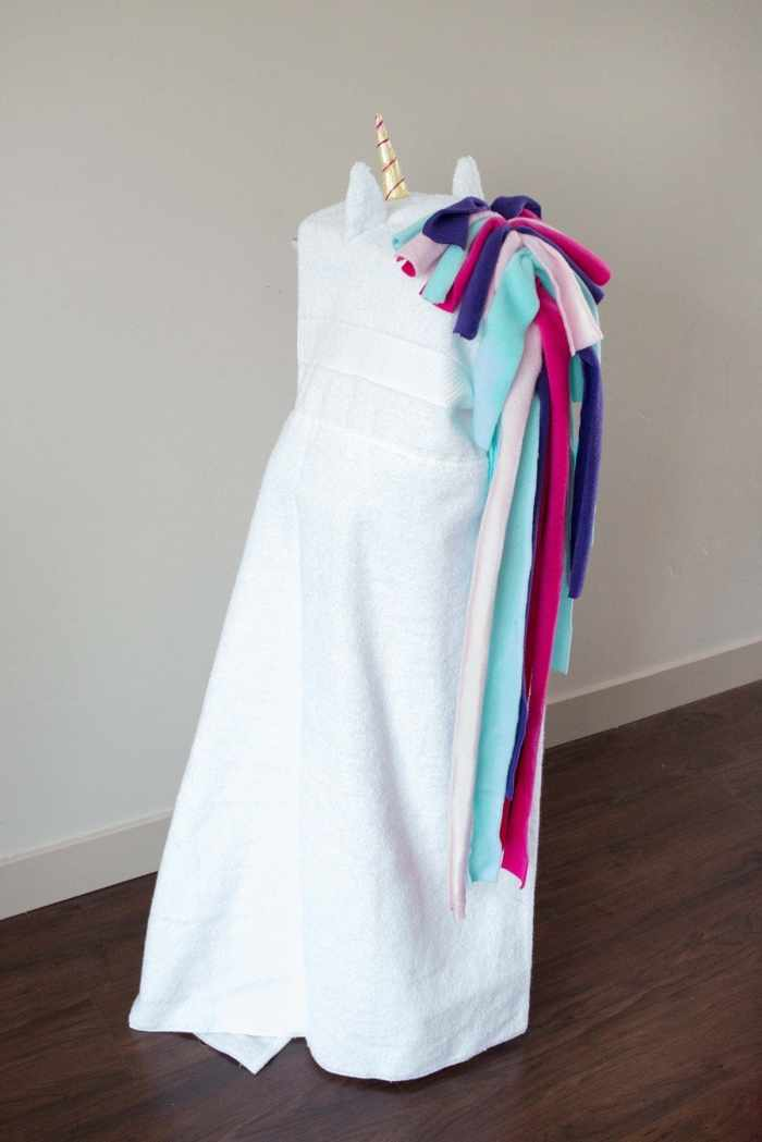 Learn how to sew a hooded unicorn towel