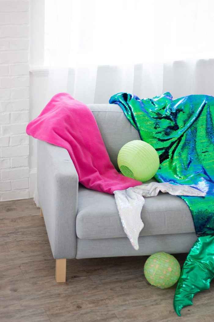 How to Sew a Mermaid Tail Blanket
