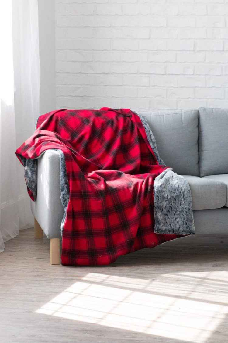 Flannel + Fur Holiday Blanket | JOANN - Sweet Red Poppy
