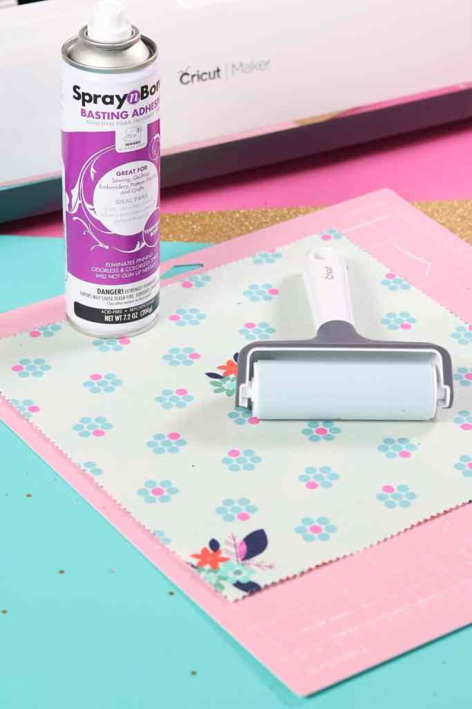 How to cut multiples layers of fabric on the Cricut Fabric Mat with Temporary Spray Adhesive.