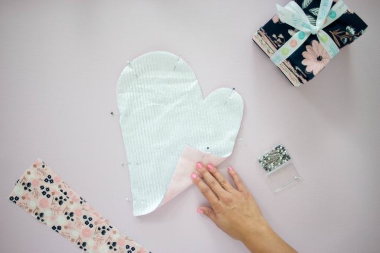 Pin the Oven Mitt Layers Together