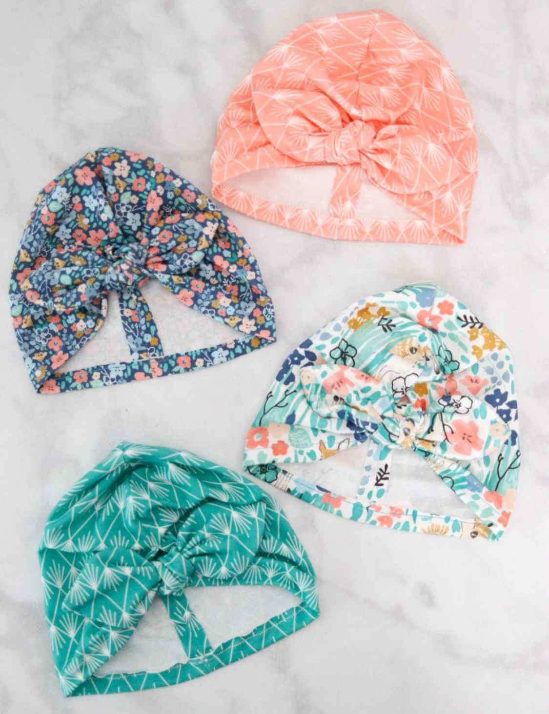 Sewing tutorial: Knotted turban baby hat