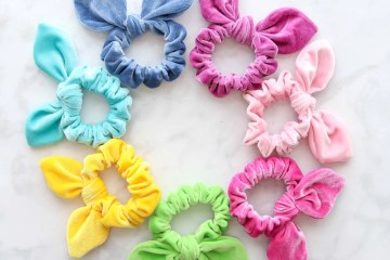 How to sew a scrunchie free sewing pattern DIY