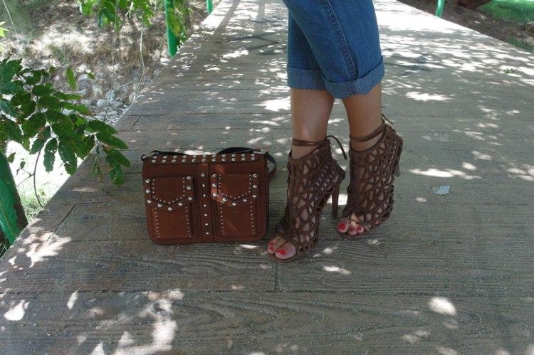SweeTrendy zapatos rejilla marrones