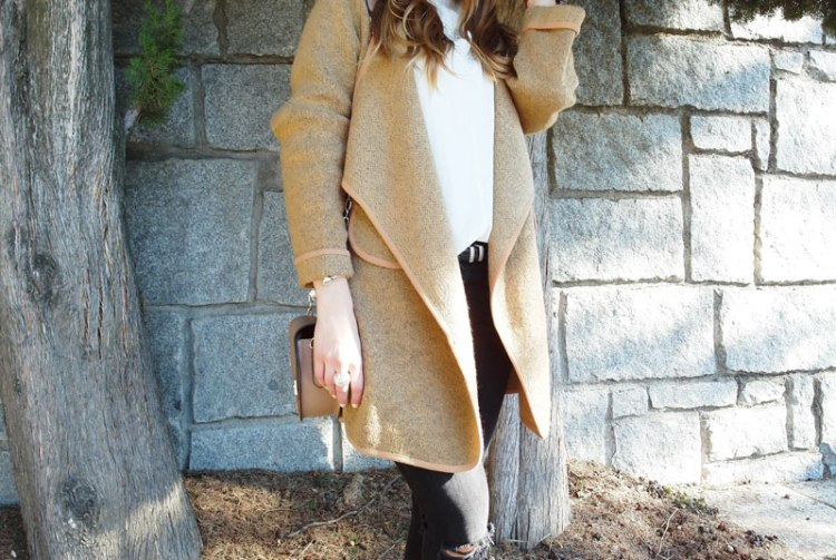 Cardigan camel SweeTrendy