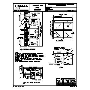 CAD details from Stanley Access Technologies, LLC
