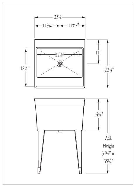 Model FM Utility SInk 23⅛