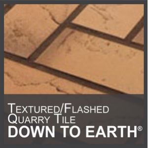 down to earth flashed quarry tile with