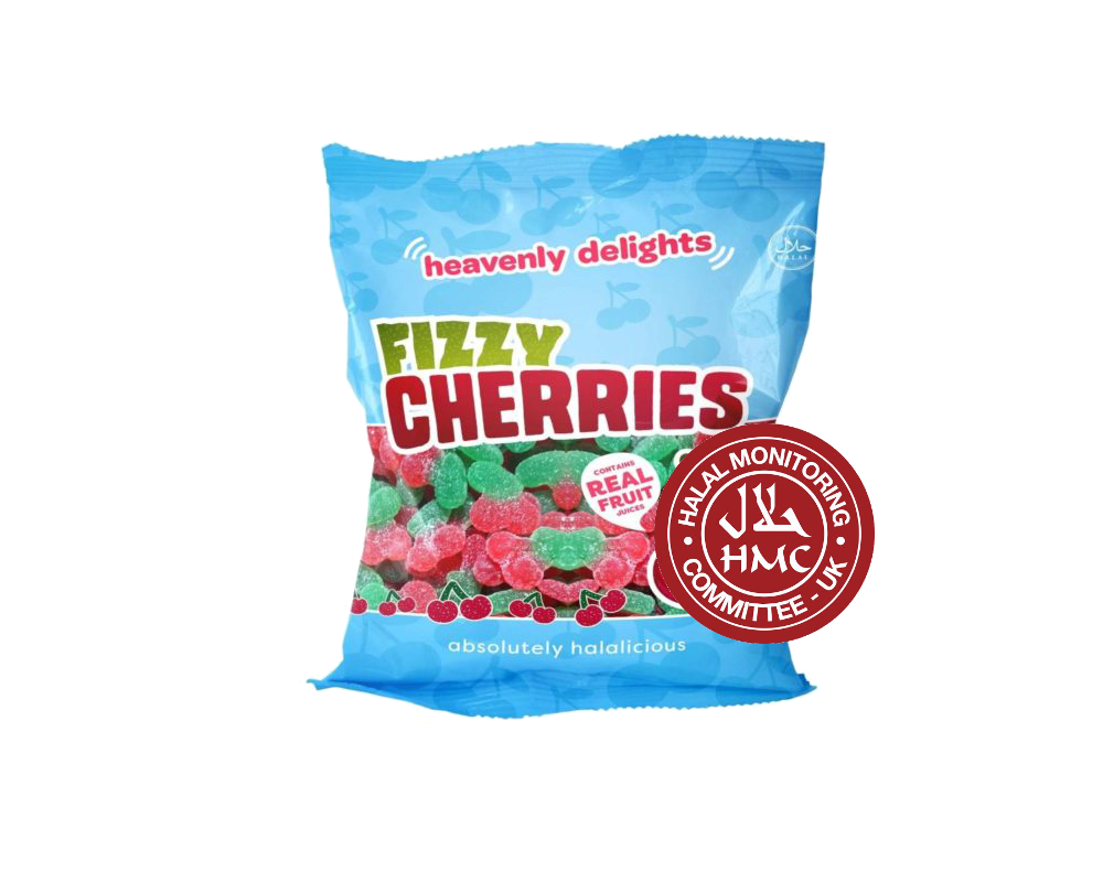 Fizzy Cherries HMC Halal Certified 80g Halal Sweets UK