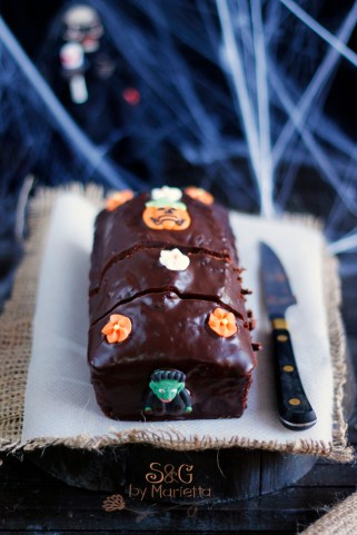Pound Cake Halloween, Chocolate Nestlé, Nestlé, chocolate intenso, bizcocho chocolate, recetas halloween, dulces Halloween, sweets and gifts, marietta, blogueras murcianas