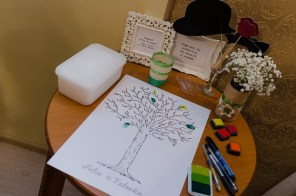 Guestbook and photo props
