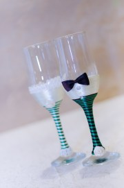 Wedding toasting flutes, handmade with love by me