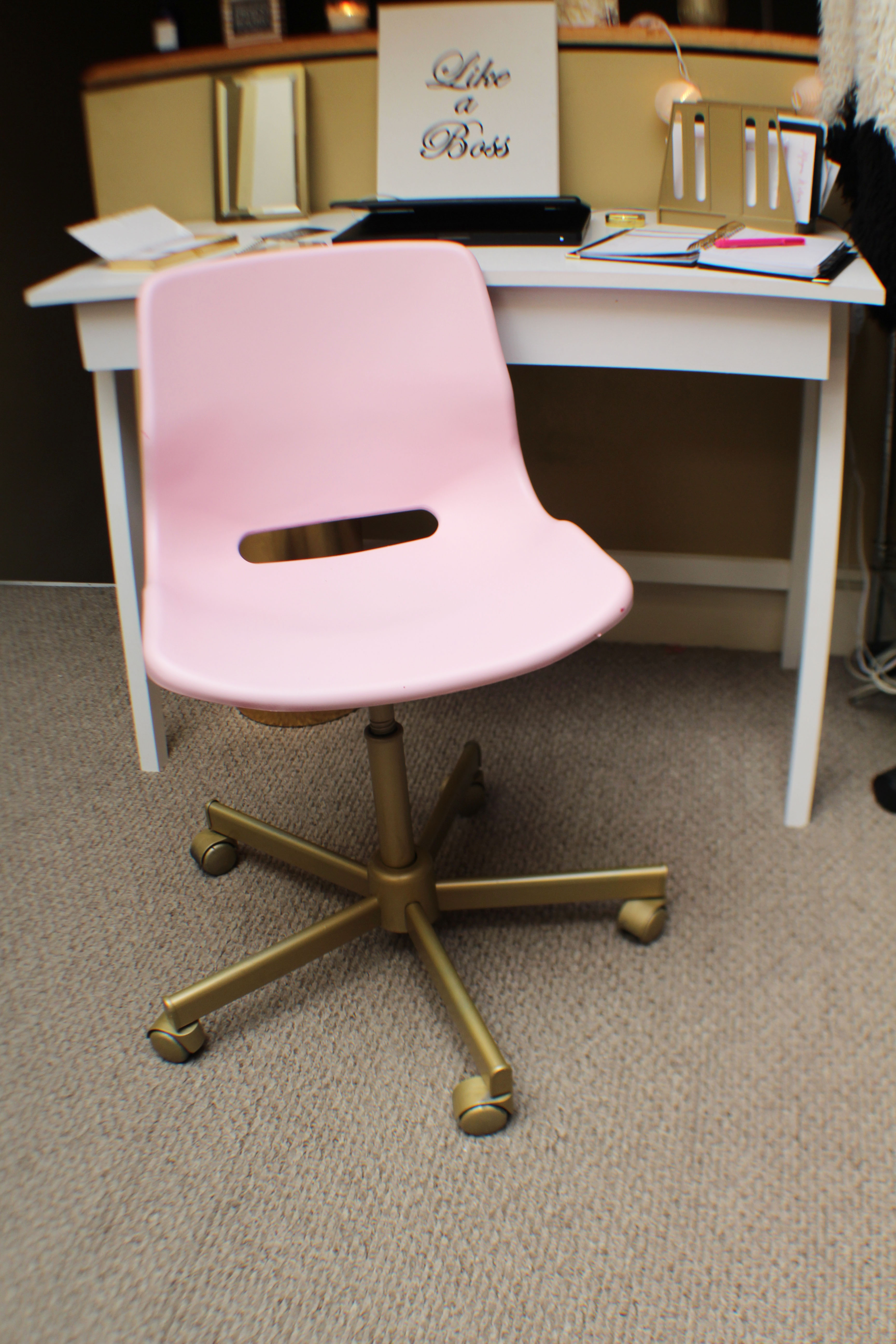 Hot Pink Office Chair Office Upgrade Getting Organized With Goodwill