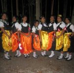 Romblon Council all dressed up with Switzerland's National Costume