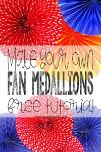 Make your own Fan Medallions Circles Tutorial