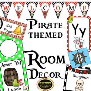 Pirate Themed Room Decor Bundle