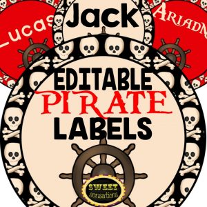 FREE pirate themed labels