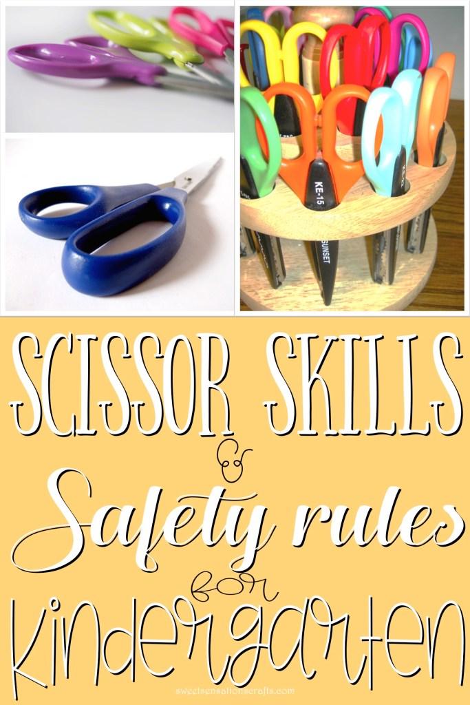 Scissor skills and safety rules for Kindergarten