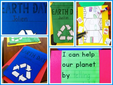 Recycling craft writing activity for earth day