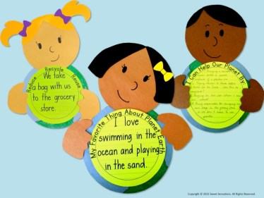 Earth Day craft activity writing